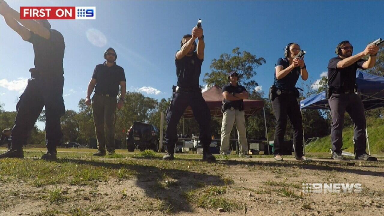 Members of the Dignitary Protection Unit in training. (9NEWS)