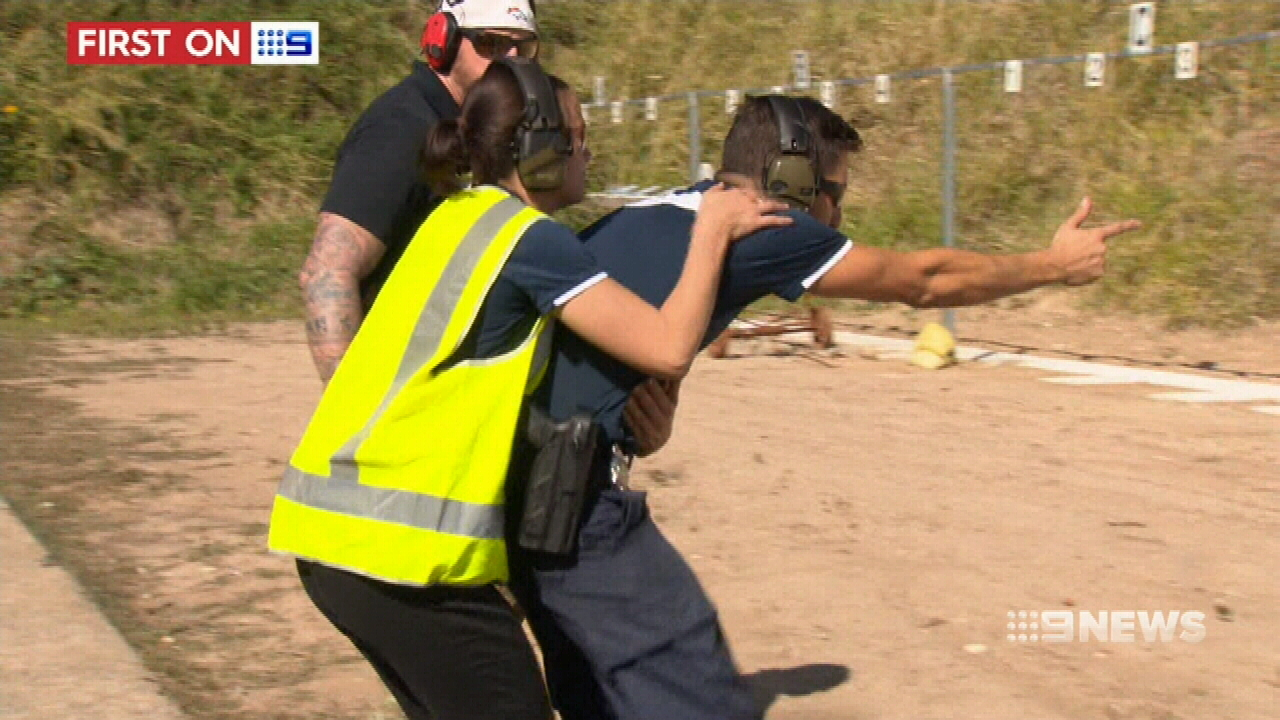 The unit trains to foil a range of security threats. (9NEWS)
