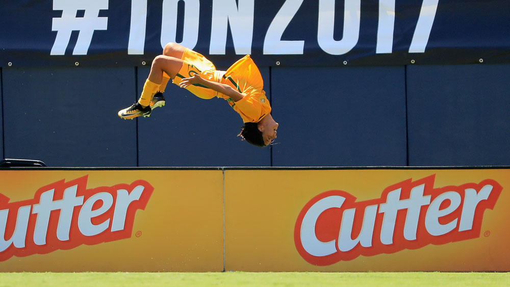 The Matildas Smashed Japan, But The Best Bit Was Sam Kerr's Backflip