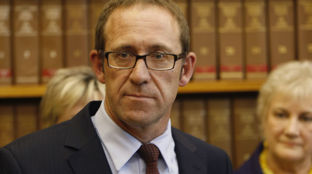 New Zealand's opposition leader Andrew Little has stepped down after poor poll results. (AAP)