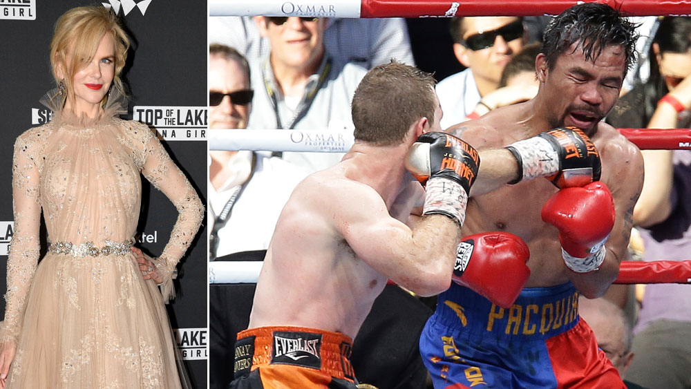 Nicole Kidman wants Jeff Horn, Manny Pacquiao rematch to be held in Sydney