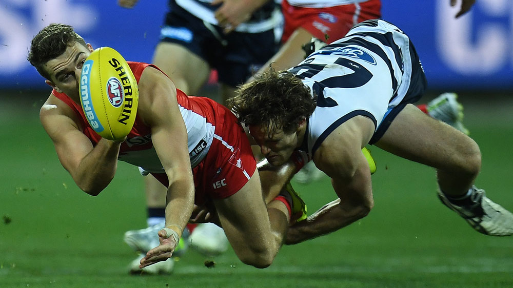 Fierce Swans teach flat Cats an AFL lesson