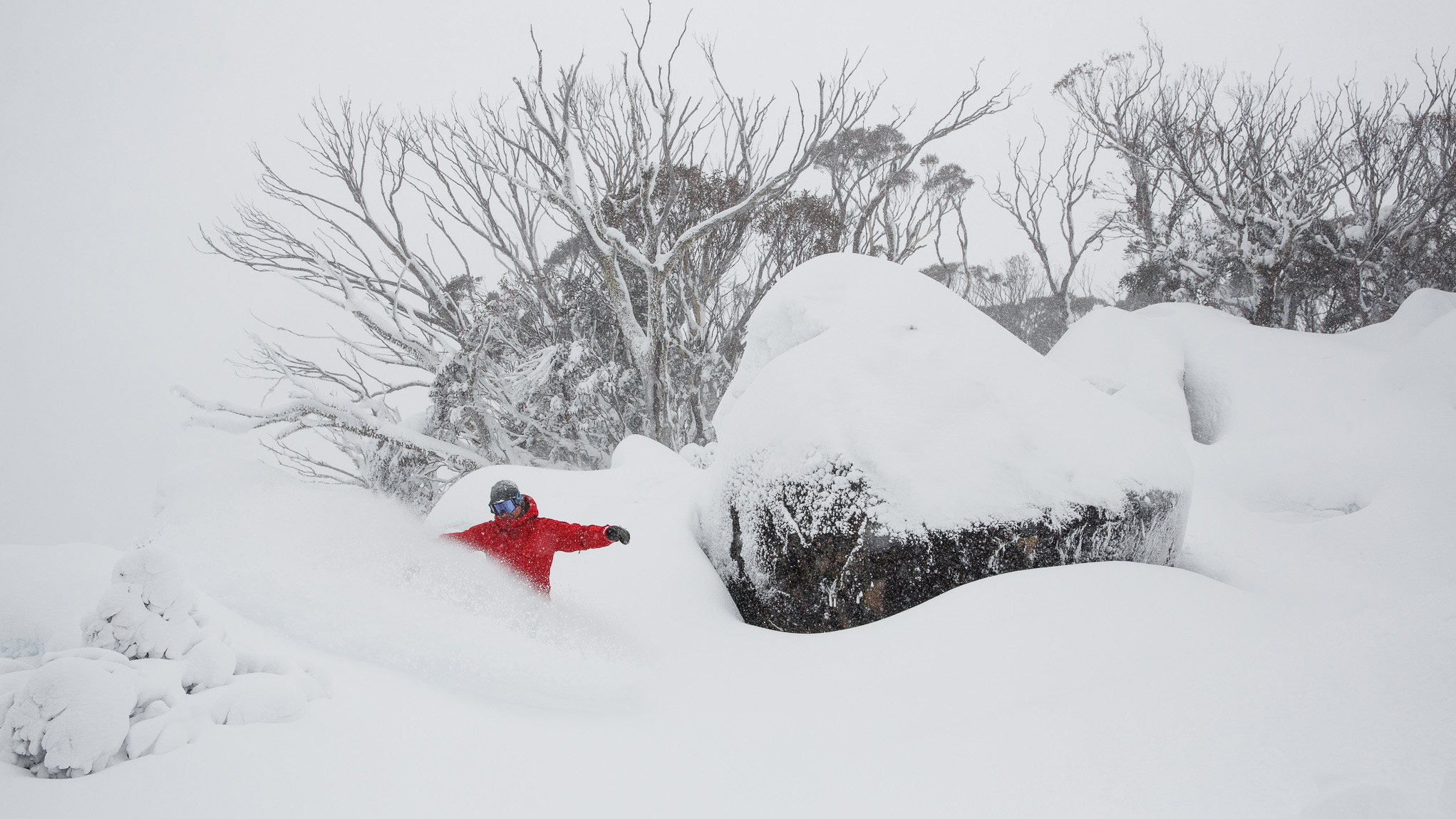 Record snowfall brought bumper conditions for skiers and snowboarders at Thredbo on Saturday. (Supplied)