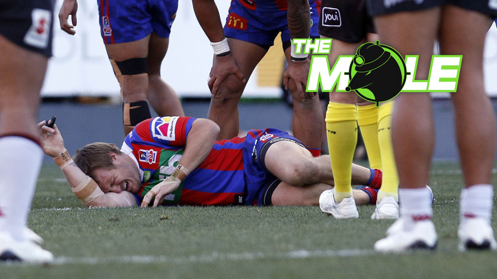 Knights winger Nathan Ross suffered a broken back in his side's win over the Warriors. (AAP)