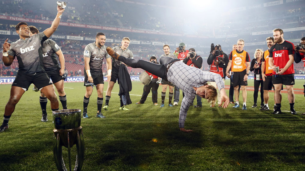 Rapt Crusaders' coach Scott Robertson makes Super Rugby history with title win