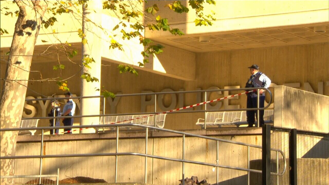 Mr Merhi was released from the Sydney Police Centre today. (9NEWS)