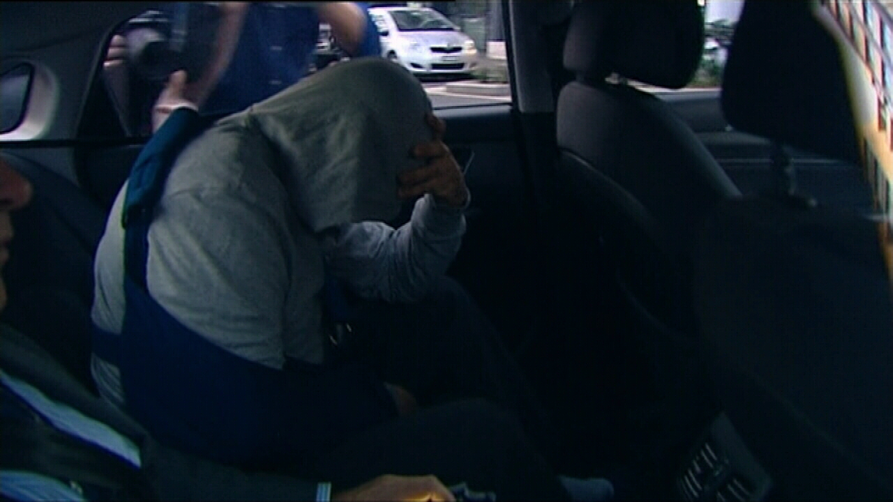 Khaled Merhi was charged with a weapons offence and released on bail. (9NEWS)