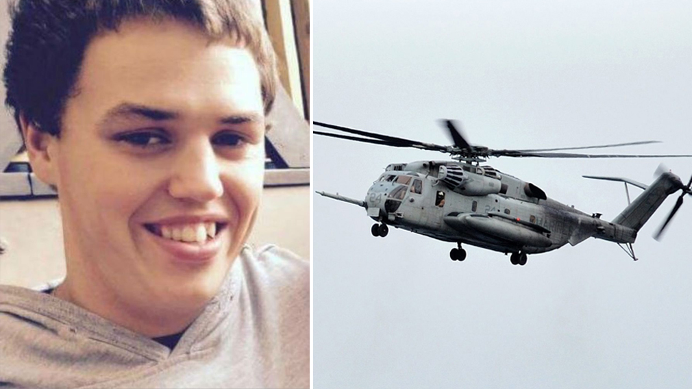 Nathan Ordway is among three Marines missing after the crash