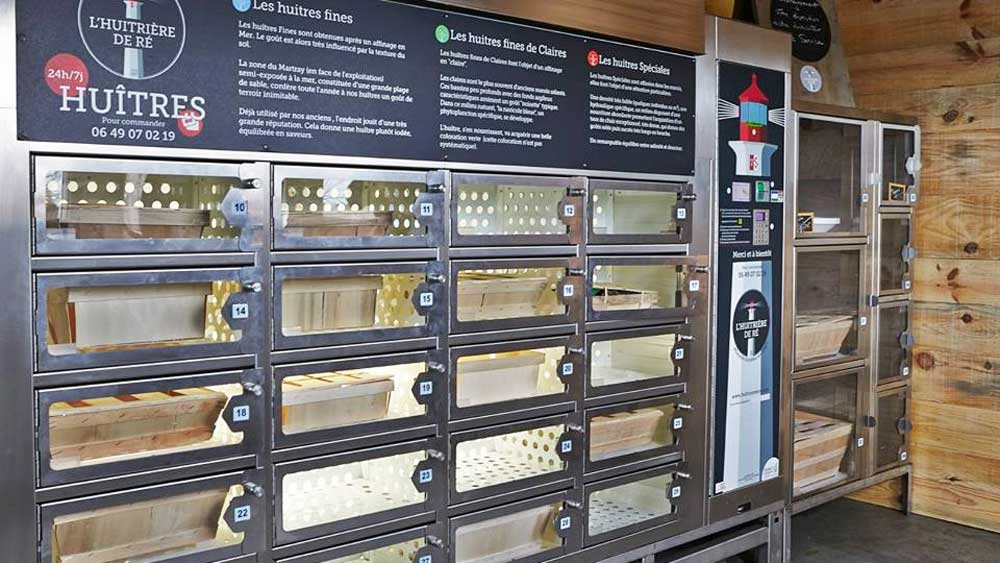 Oyster vending machine in Ile de Re_thumb