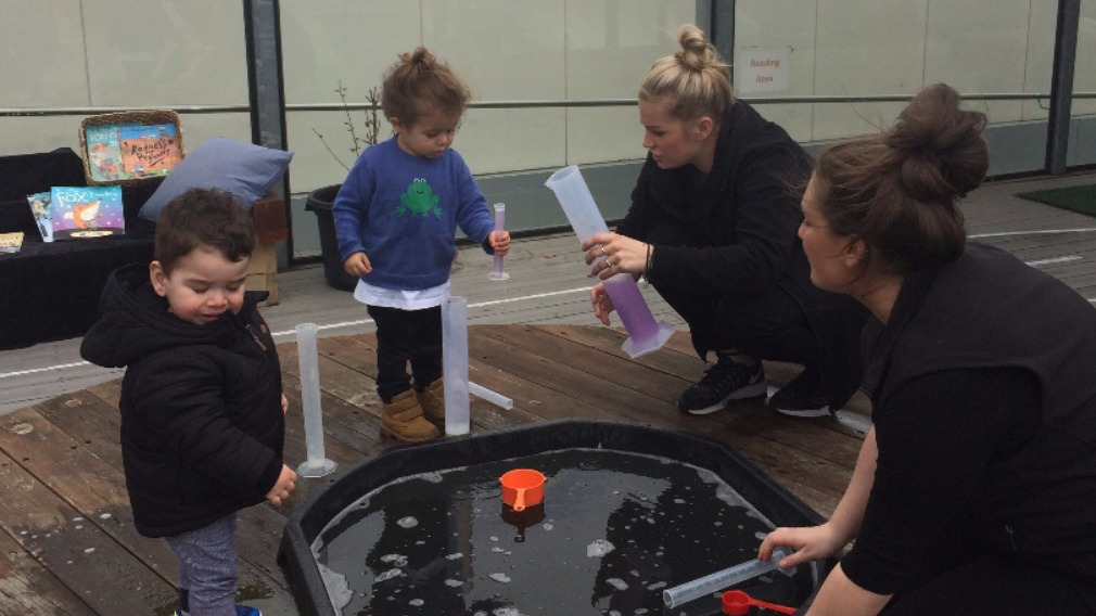City Kids provides tiny tots with plenty of opportunity for outdoor play.