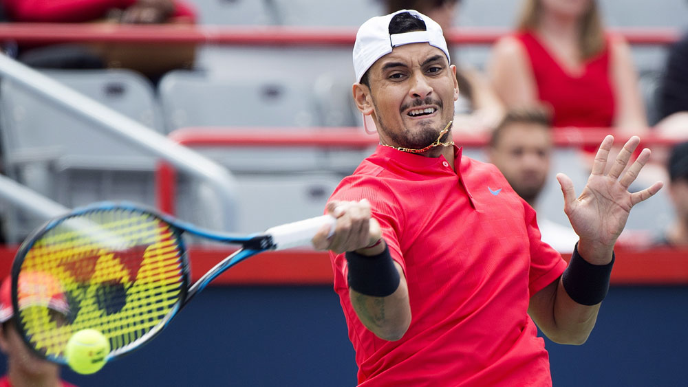 Australia's Nick Kyrgios returns to winning ways in at Rogers Cup in Montreal