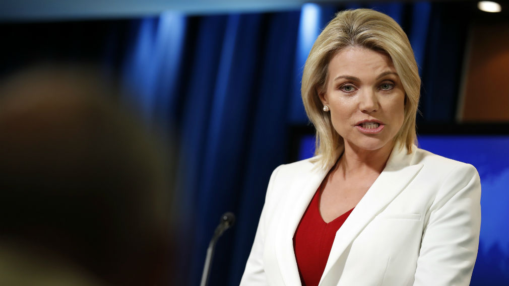 State Department spokeswoman Heather Nauert