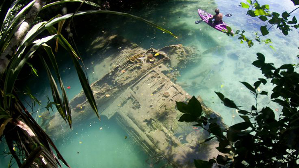 tourist discovers wwii plane crash site in tropical