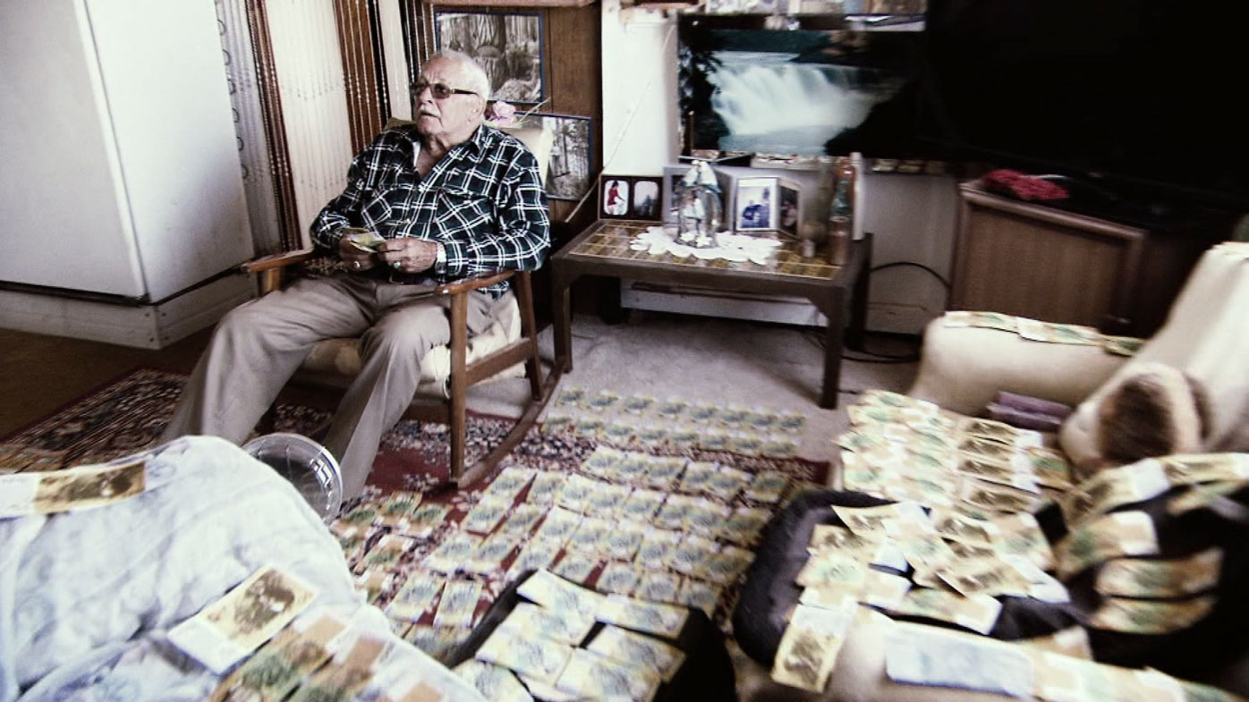 """""""Surreal""""...Mr O'Brien didn't leave the house while the money was drying."""