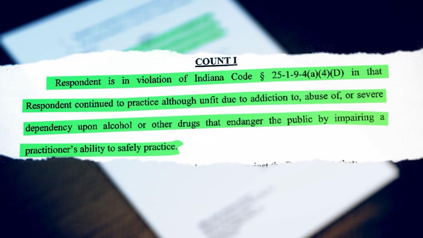 The Medical Licensing Board of Indiana provided Dr Kolodzej's file.