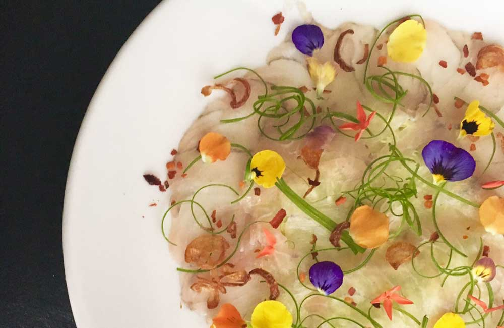 Willin Low's barramundi carpaccio with calamansi chilli dressing_recipe