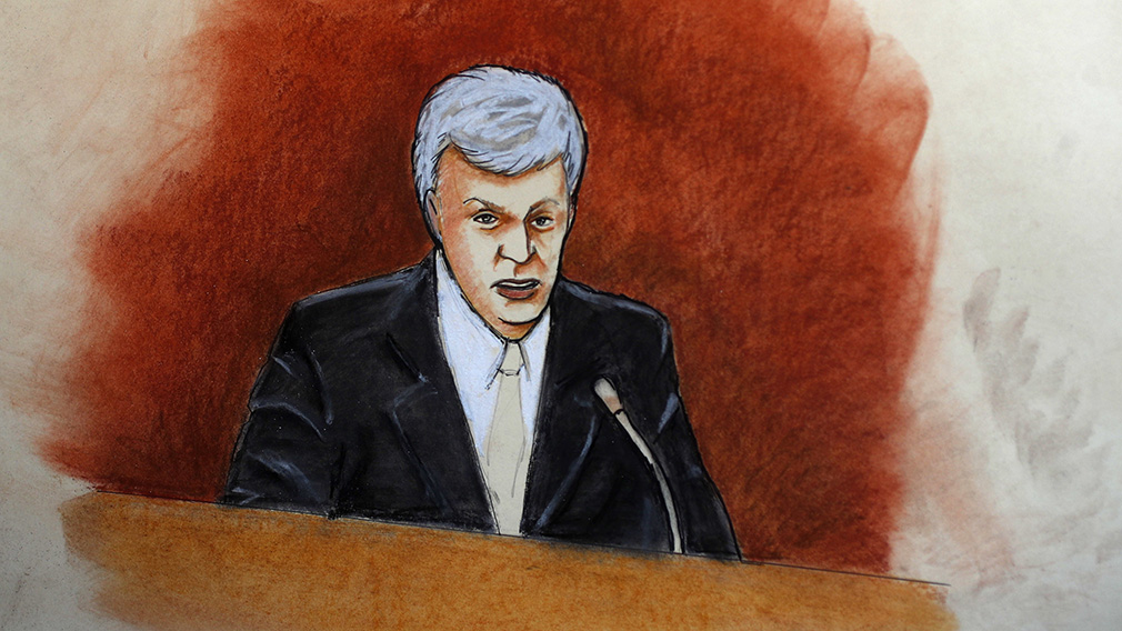 Mr Mueller on the stand. (AAP/Jeff Kandyba)
