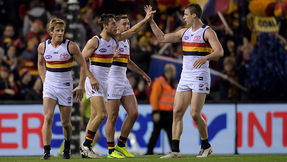 Adelaide has put a major dent in Essendon's top eight chances. (AAP)
