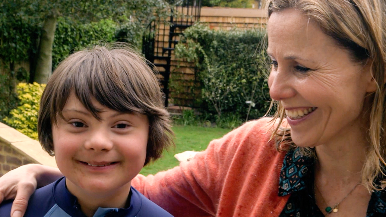 British comedian Sarah Phillips and son Ollie. (60 Minutes)