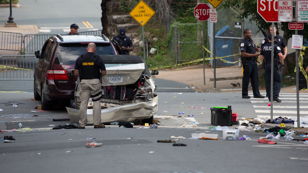 Civil rights probe launched after car hits crowd at US race rally