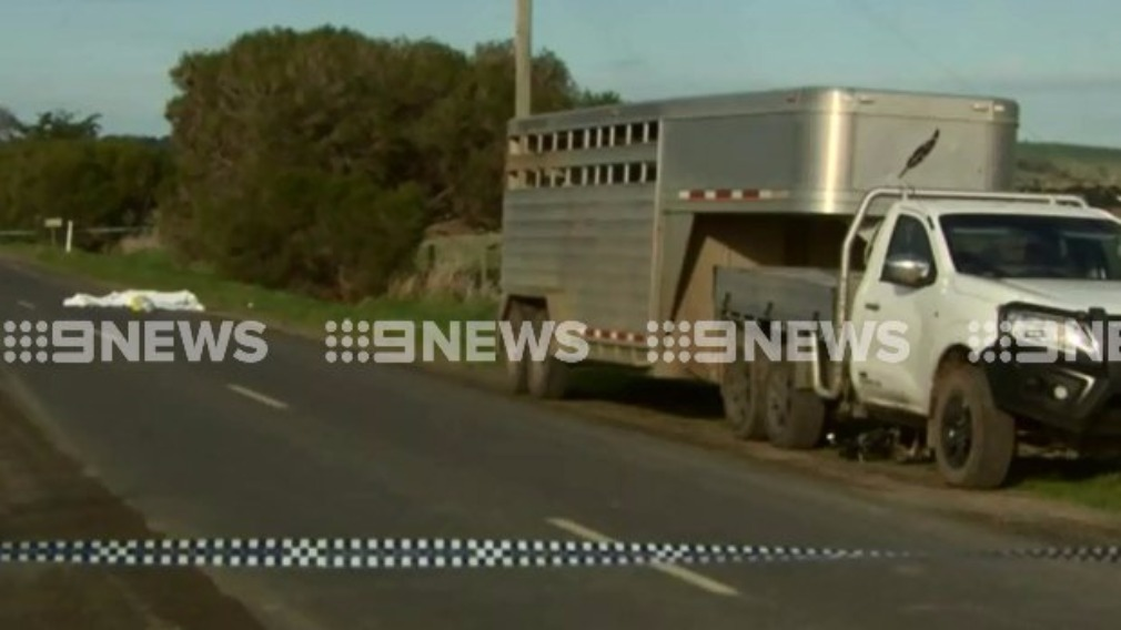 The cyclist died at the scene. (9NEWS)