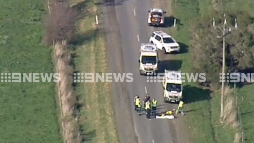 The fatal collision occurred just before 1.30pm. (9NEWS)