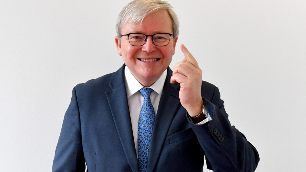 Kevin Rudd says Donald Trump should use clear, quiet diplomacy when dealing with China on North Korea. (AAP)