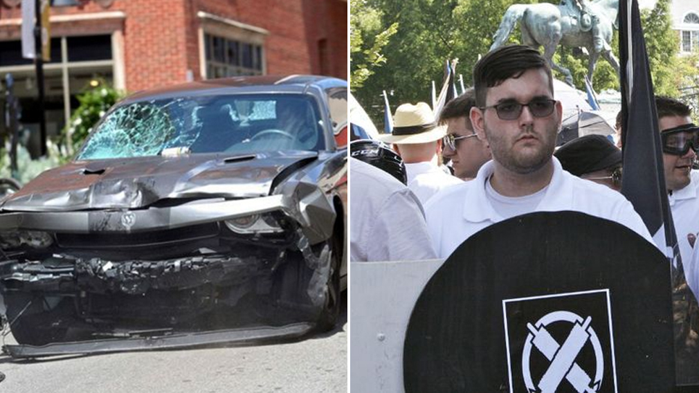 Accused killer driver pictured hours earlier with racist group