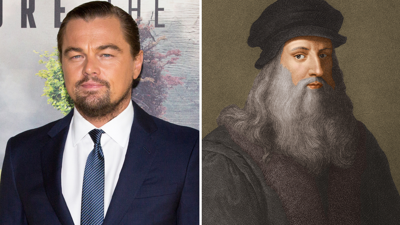 Leonardo Di Caprio and Leonardo da Vinci Images Getty