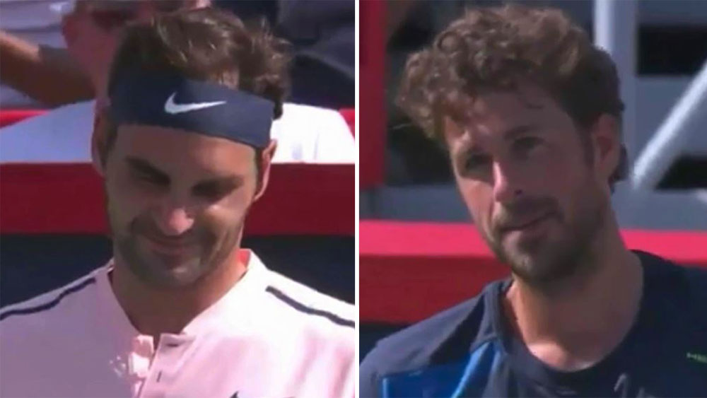 Roger Federer and Robin Haase.