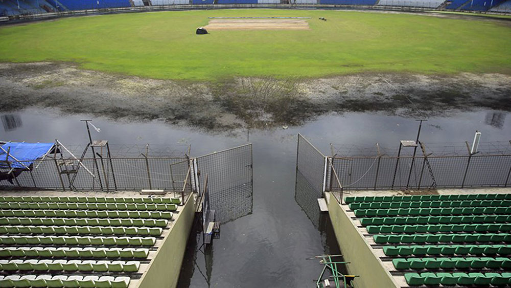 The Fatullah Cricket Stadium  faces a race against time to be ready for Australia's tour match. (Pic: Twitter)