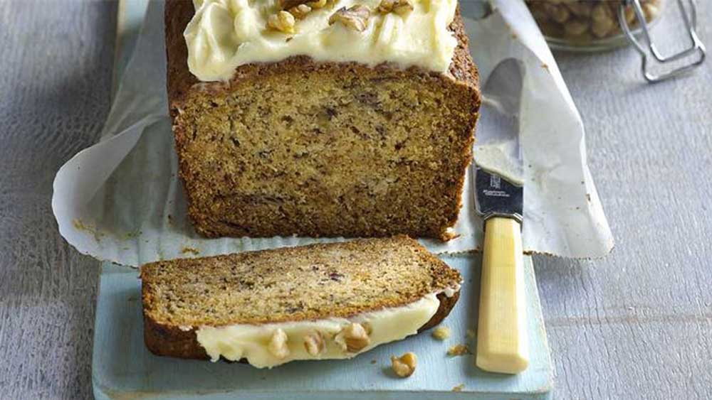 """Recipe: <a href=""""http://kitchen.nine.com.au/2017/08/08/14/13/one-bowl-banana-cake-with-cream-cheese-icing"""" target=""""_top"""">Easy one bowl banana cake</a>"""