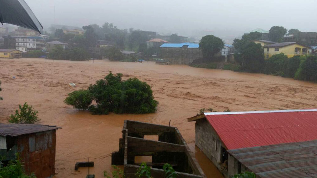 Mudslides devastate Sierra Leone capital leaving hundreds dead