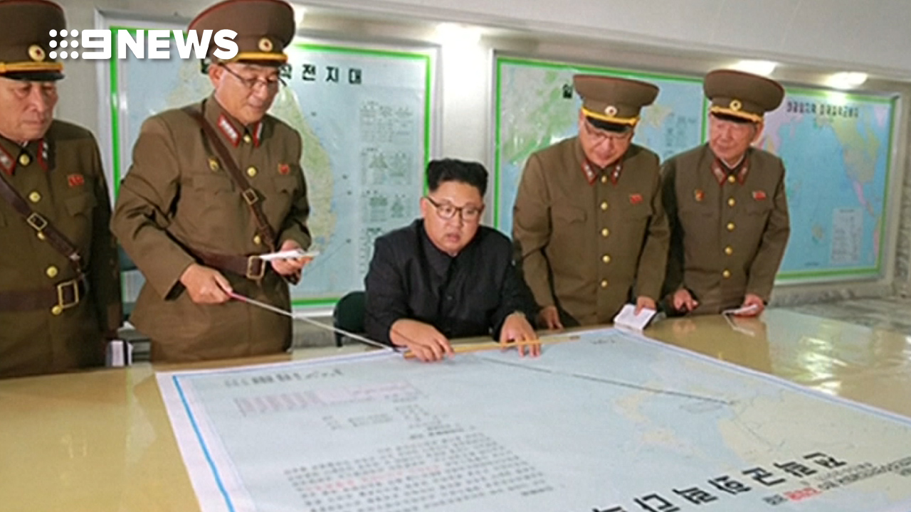 North Korea leader Kim Jong Un and his military strategists.
