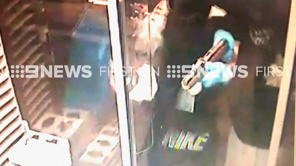 Moment raiders held up McDonald's drive-thru at gunpoint