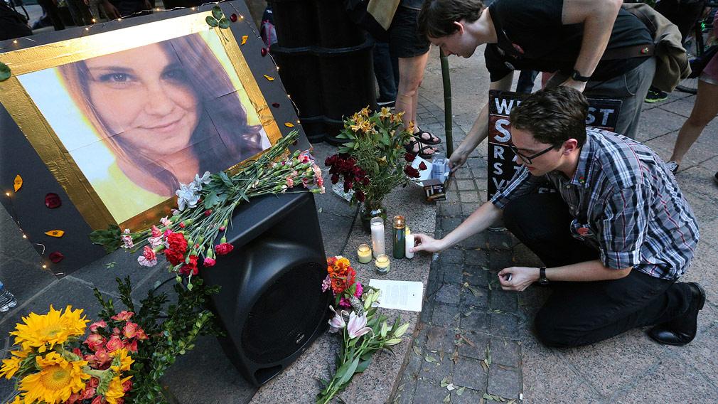 Hundreds gather to mourn slain Charlottesville victim