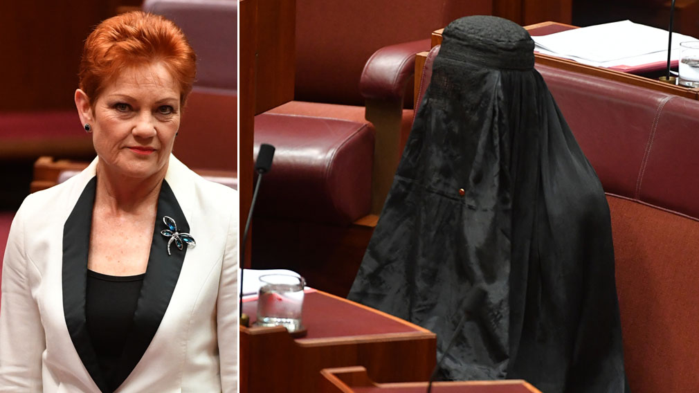 Senate stunned as Hanson walks in wearing burqa