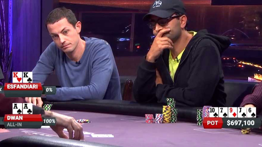 The sad reality becomes all too apparent for Antonio Esfandiari (right).