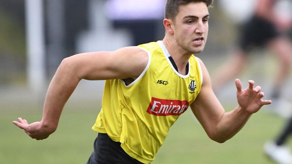 Josh Daicos may make his senior debut for Collingwood. (AAP)