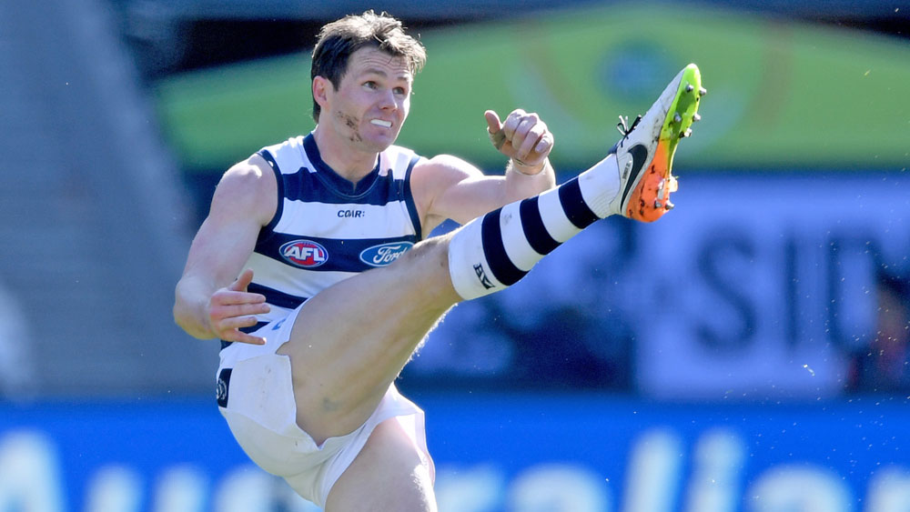 Patrick Dangerfield starred as Geelong beat Collingwood. (AAP)