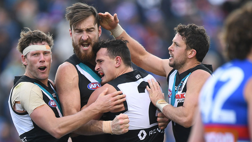 Port Adelaide's win may prove terminal for the Western Bulldogs. (AAP)