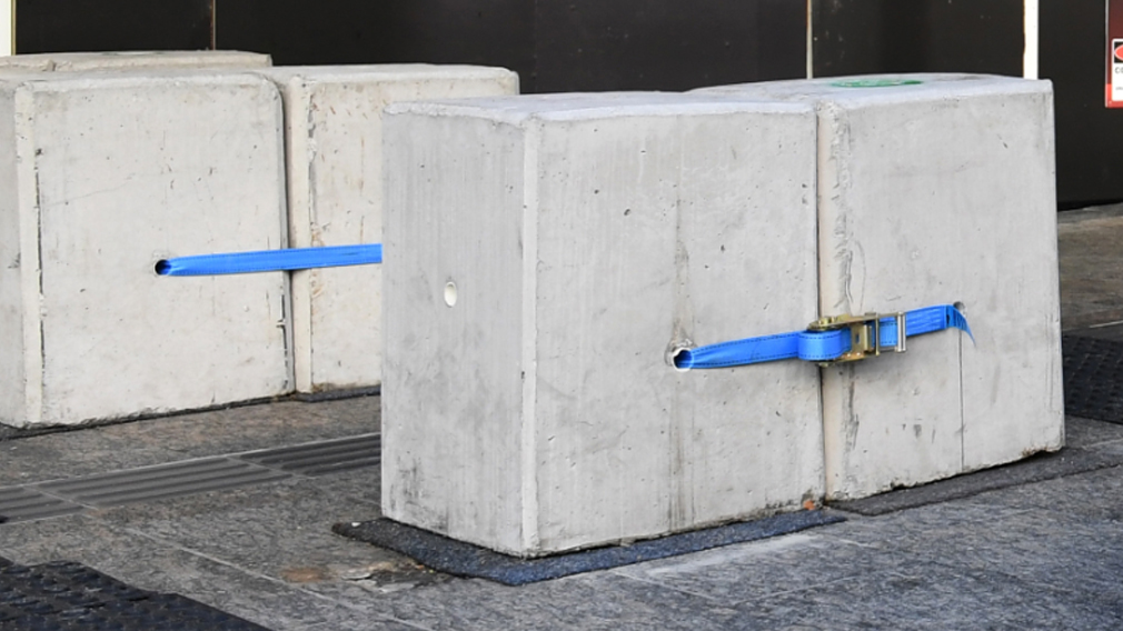 The counter-terrorism strategy will recommend more bollards. (AAP)
