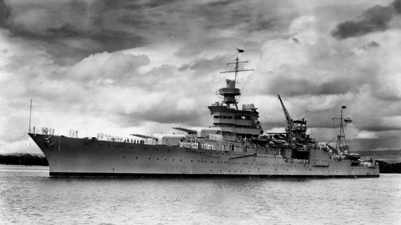 The wreckage of the USS Indianapolis has bee found 5500 meters below the surface of the Pacific Ocean. (AAP)