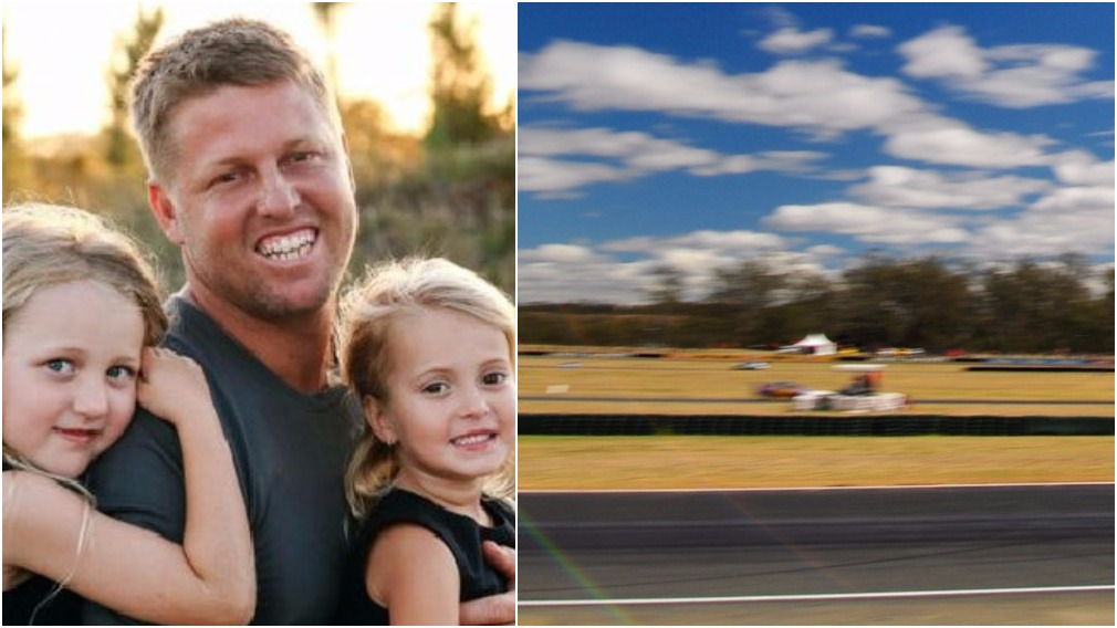 Young father dies after racing track crash