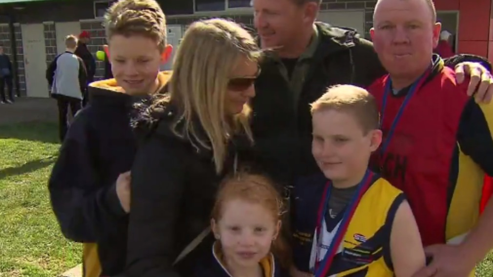 Luke was joined by his proud family and friends. (9NEWS)