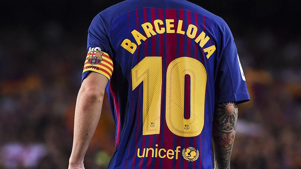 Barcelona players.