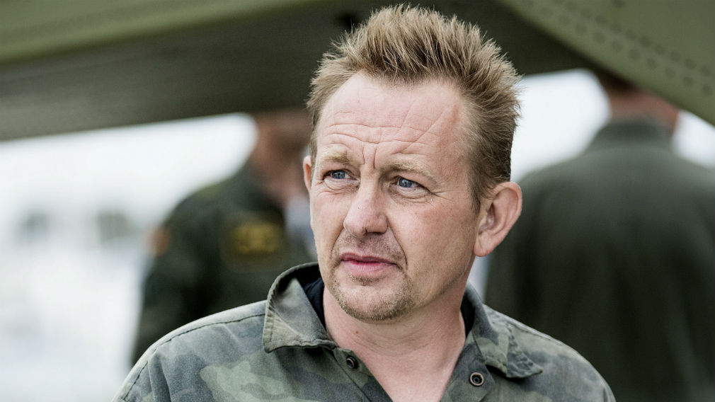 Danish submarine owner and inventor Peter Madsen after landing with the help of the Danish defense in Dragor Harbor south of Copenhagen on August 11. (AAP)