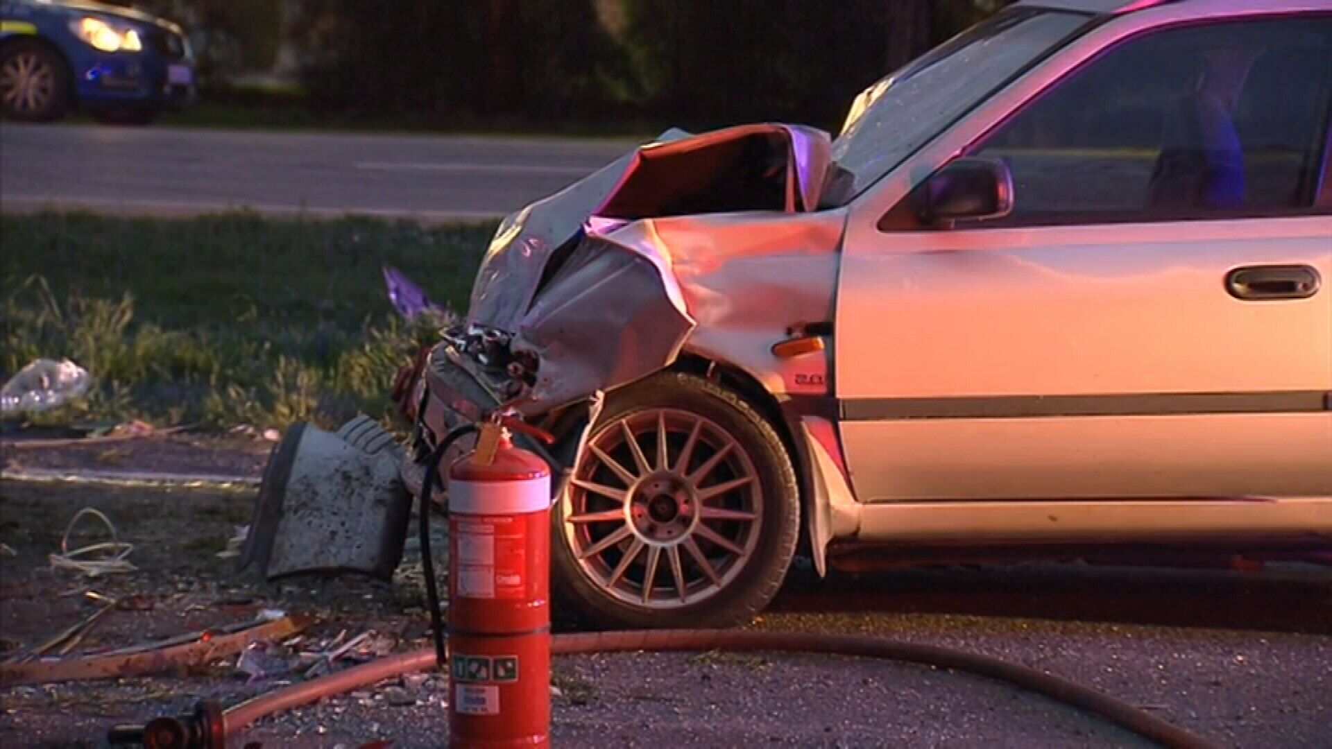 An 18-year-old has died and his 16-year-old passenger is fighting for life after a crash in Adelaide. (9NEWS)