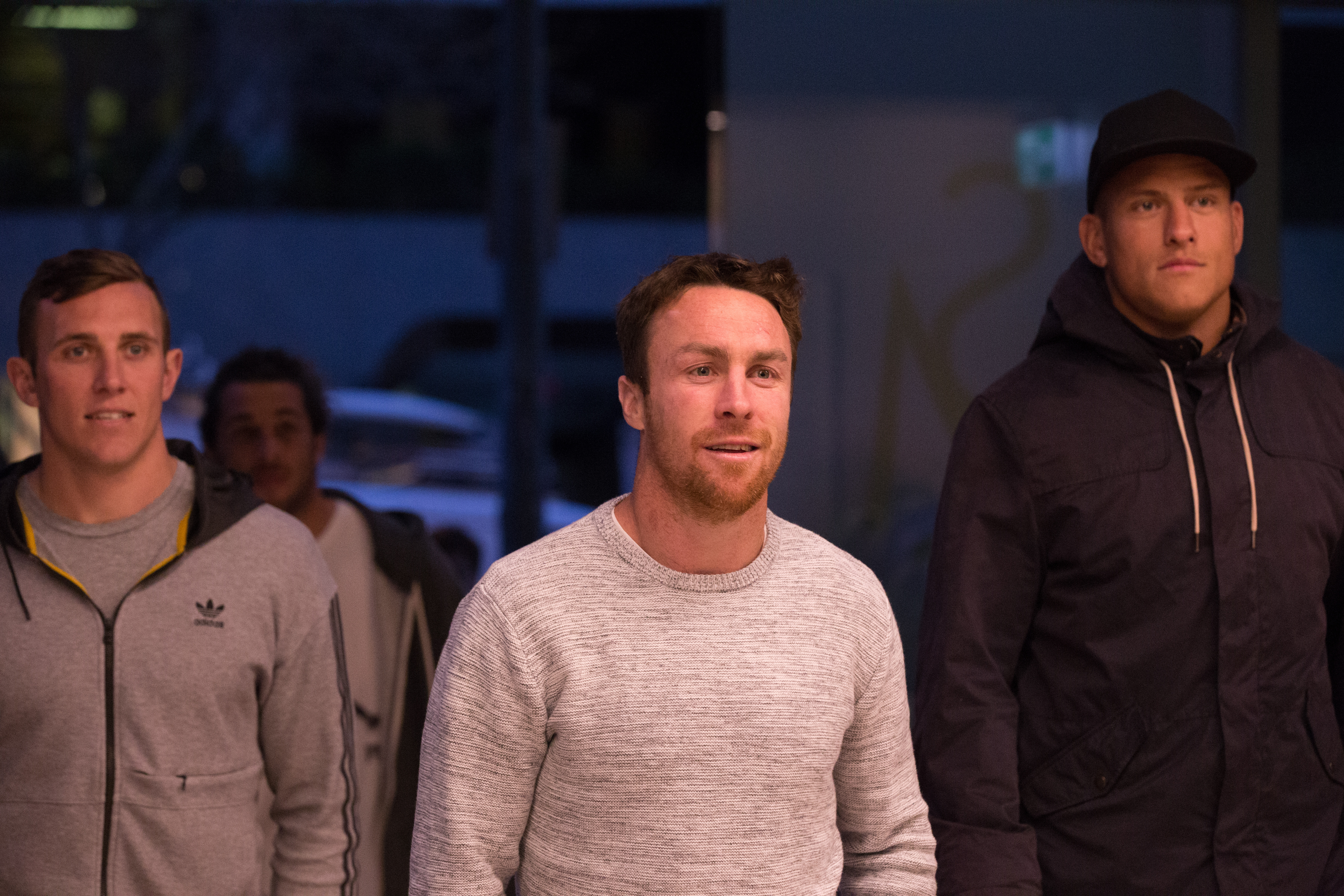 James Maloney arrives at the RLPA meeting. (AAP)