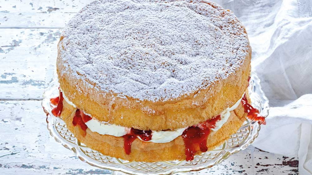 "Recipe: <a href=""http://kitchen.nine.com.au/2017/08/22/15/52/mckenzies-traditional-sponge-cake"" target=""_top"">McKenzie's traditional sponge cake</a>"